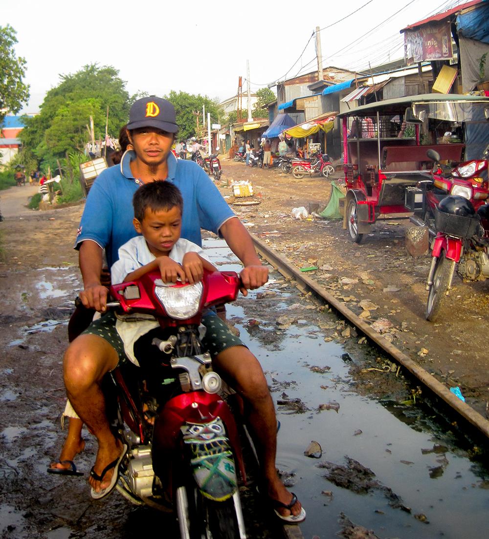 Cambodian family vehicle