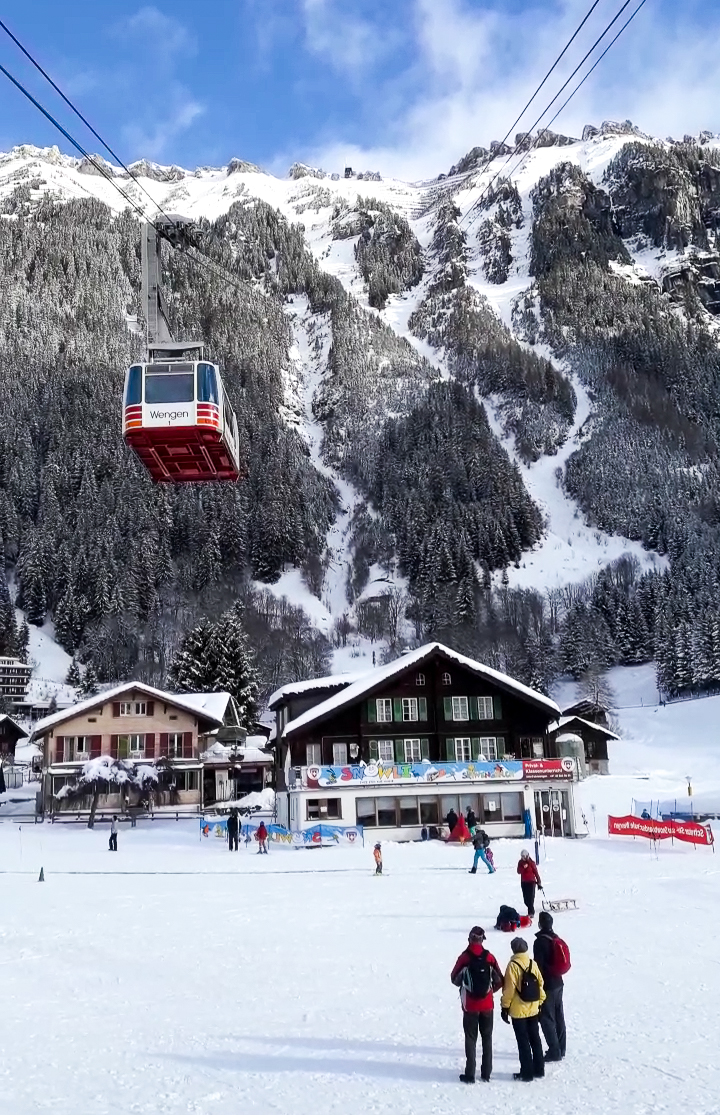 Swiss Cable Car in Wengen