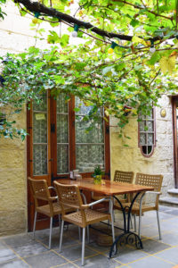 Lunch Terrace with trees in Mdina, Malta