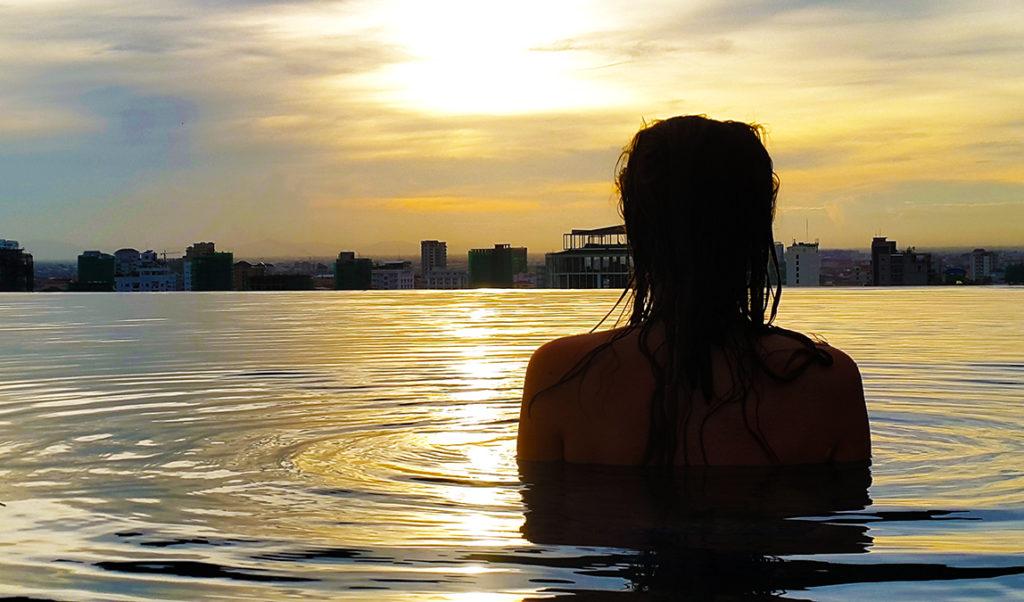 pool sunset phnom penh