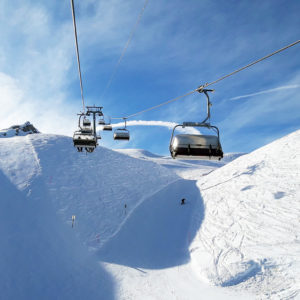 Swiss alps chair lift