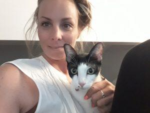 Tara and Mimi the cat