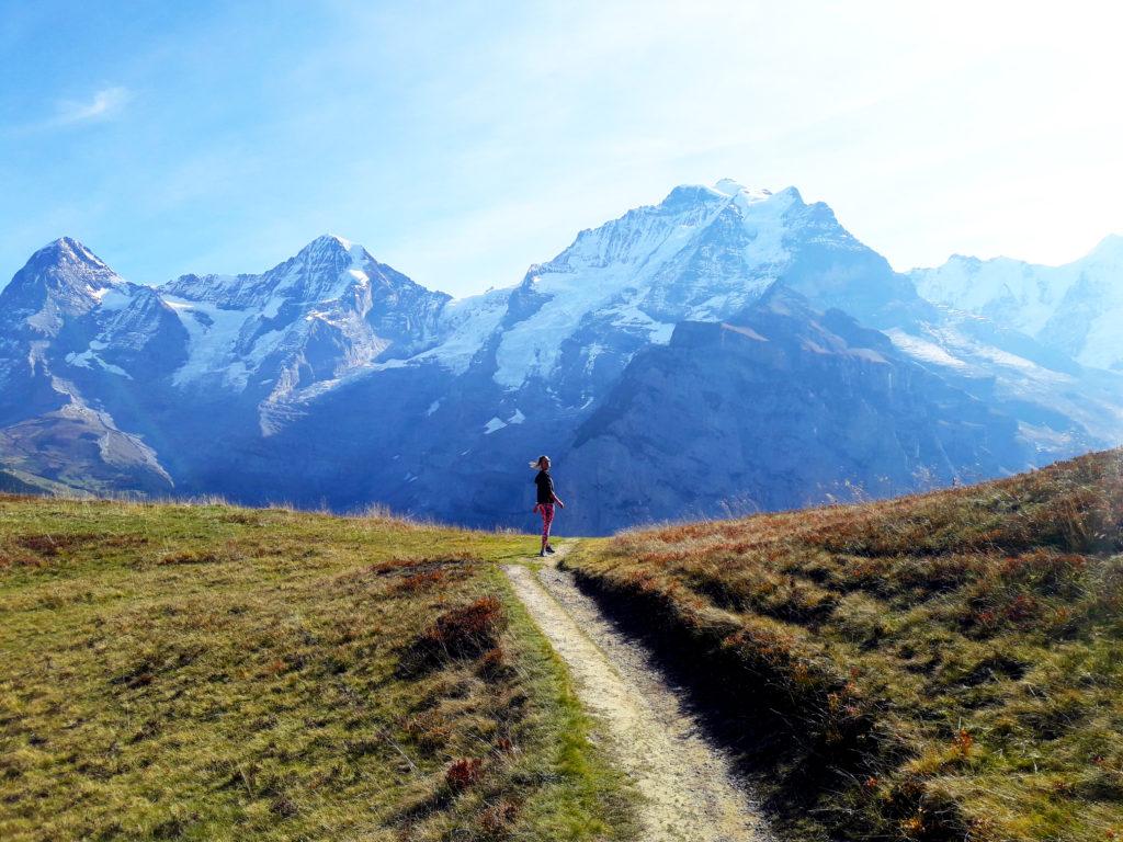 Jungfrau Swiss Alps hiking trail